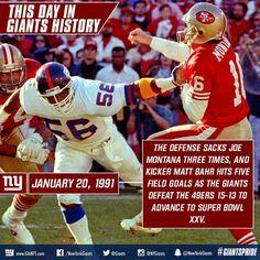 New York Football, Giants Football, New York Giants, Super Bowl Xxv, Beast Of The East, Lawrence Taylor, Joe Montana, G Man, Great Team
