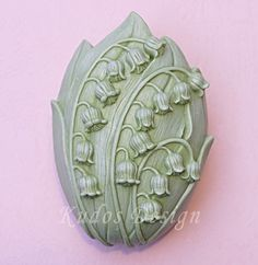 soap mold silicone soap mold  FL020 Lily of the valley by Kudosoap, $18.00
