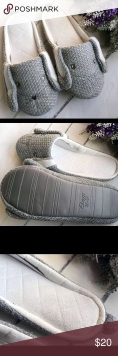 Bunny NEW memory foam slippers gray 6.5 New small fits size 6-6.5 best. No brand- tagged ugg for exposure UGG Shoes Slippers