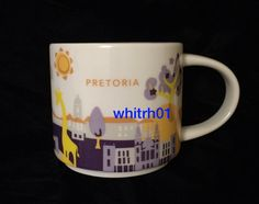 Starbucks Pretoria YAH Mug South Africa Jacaranda Tree You Are Here Coffee Cup #Starbucks
