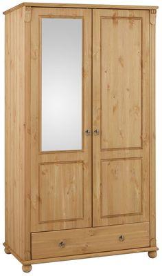 Mit Schubkästen und Spiegelmitteltüren, beim 2-türigen Schrank ist der Spiegel links.  Inneneinteilung bei 3-türig rechts, bei 4- und 5-türig hinter den Außentüren je 3 verstellbare Böden, sonst 1 Kleiderstange.  Breiten: 2-türig: Breite 106 cm, 3-türig: Breite 152 cm, 4-türig: Breite 199 cm, 5-türig: Breite 245 cm,  Maße (T/H): 59/191 cm.  Alles ca.-Maße....