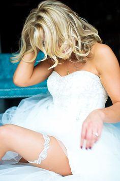 Rhinestone Bling Wedding Garter Sparkle by LaGartierGarters