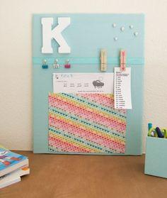 Keep homework organized with a customized bulletin board.