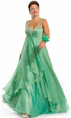 plus size mermaid gown aqua | 2014 Plus Size Prom Dresses For a Curvy Figure (24 Pictures)