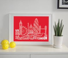 Welcome to the SP Design 'Citography' Collection these skyline prints are made from landmark & street names from the city to create the iconic skyline. £40.00