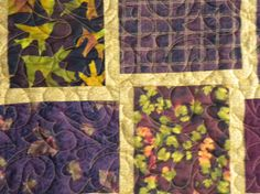 Fall Leaves Large Lap Quilt by danastiegemeier on Etsy, $150.00