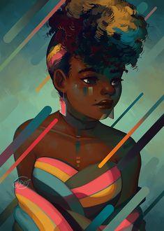 The art of Geneva Benton Digital illustrator 2017 Black Girl Art, Black Women Art, Art Girl, Black Girls, Arte Black, Black Art Pictures, Natural Hair Art, Black Artwork, Afro Art