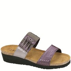 """Naot Women's """"Lena"""" from the Elegant Collection in it's new color combination, Graphic Purple/Mirro Leather! Available in more colors! #Naot #NaotFootwear #Comfort #Fashion #Sandals #WomensFashion #SpringHasSprung"""