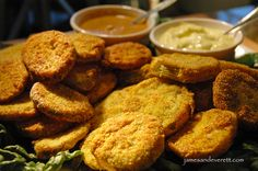 fried green tomatoes or PICKLES