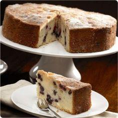 Low FODMAP Blueberry and Lemon Drizzle Polenta Cake