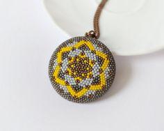 Statement necklace geometric pendant modern pendant mandala