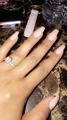 Nude nails OPI gel Acrylic nails Coffin nails
