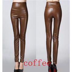 Faux Leather Pencil Pants