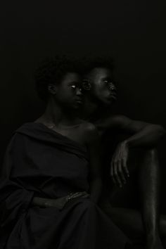 An Examination of the Color Black in Gorgeous Portraits by Yannis Davy Guibinga | Colossal