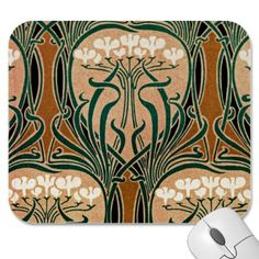Art Nouveau pattern #9 Mousepad
