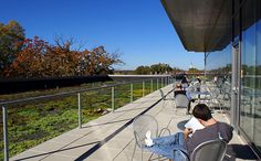 The terrace on the top floor of the FedEx Global Education Building next door is a nice place to hang out