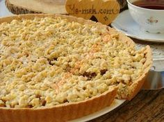 Easy Cake Recipes : A delicious cake recipe with a lot of apple mortar, scattered in the mouth. Delicious Cake Recipes, Easy Cake Recipes, Yummy Cakes, Dessert Recipes, Apple Pie Recipes, Tart Recipes, Cooking Recipes, Pie Dessert, Turkish Recipes