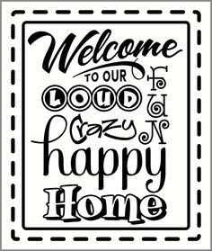 Welcome Wall Decor peace love and joy to all who enter here wall quote | decor, peace