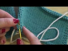 How to seam knitted pieces together using mattress stitch