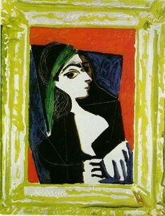 Portrait of Jacqueline, 1957, Pablo Picasso