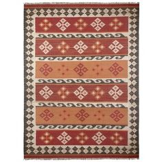Hand Woven Jewel Wool Flat Weave 9x12 - Overstock™ Shopping - Great Deals on 7x9 - 10x14 Rugs