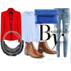 """""""red jacket and blue jeans"""""""
