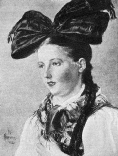 Wilhelm Hasemann: : Mädchen aus dem Hanauer Land  (1902) #Hanau