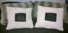 crocodile stitch and leather decorative pillow