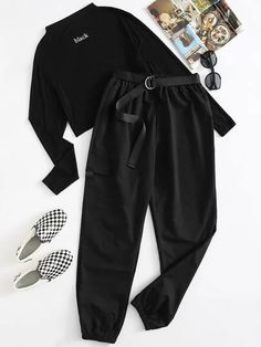 Trendy Fall Outfits, Teen Fashion Outfits, Cute Casual Outfits, Outfits For Teens, Cargo Pants Women, Pants For Women, Date Night Outfit Curvy, Stylish Dress Designs, Korean Fashion