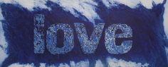 Blu Love, carborundum, 140x80 cm
