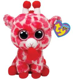 Ty Beanie Boos Jungle Love Giraffe 6″ Plush, Pink