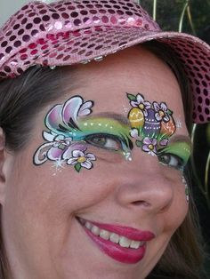 Quick one-stroke bunny - Easter face paint idea | Face Painting ...