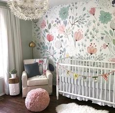 Floral Wallpaper Accent Wall in the Nursery so whimsical and sweet! 2019 Floral Wallpaper Accent Wall in the Nursery so whimsical and sweet! The post Floral Wallpaper Accent Wall in the Nursery so whimsical and sweet! 2019 appeared first on Nursery Diy.