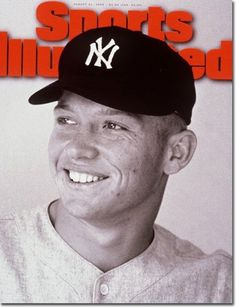 Sports Illustrated, August 21, 1995. Photograph of Mickey Mantle by George Silk. Art director: Steven Hoffman.