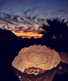 Mint wedding, tealight sunsets