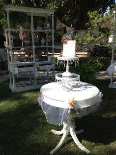 Dessert area for Caitlin's vintage chic wedding