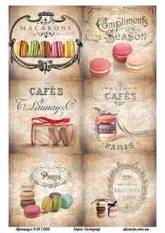 Картинки для декупажа с сладостями9011003