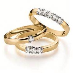 elements du temps ring gouden ring met 1 of meerdere diamanten op elk ...