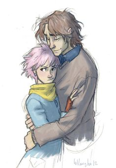 """You've Really Got a Hold on Me"", Tonks and Lupin. This artist is amazing!"