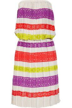 Mateo lace-appliquéd crepe dress