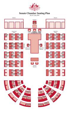 Parliament House Canberra |  Senate Chamber Floor Plan