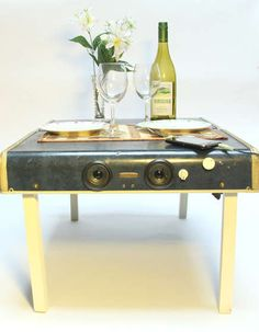 How-to: Suitcase Picnic Table With Ipod Speakers