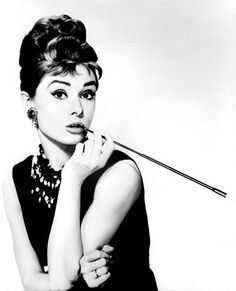 Audrey Hepburn - My favorite piano piece was Moon River and this was the image of Audrey that I saw every day.