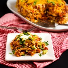 Slow Cooker Chicken Tortilla Casserole