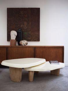 coffee table design Duo multilaque Coffee table - The Invisible Collection Coffee Table Design, Diy Coffee Table, Unique Coffee Table, Modern Coffee Tables, Estilo Interior, Home Interior, Interior Decorating, Brown Interior, Kitchen Interior