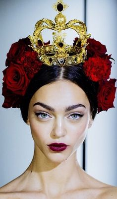 Zhenya Katava for Dolce & Gabbana- I LOVE that shade of lipstick. Not sure what color that is or what is a good dupe. Maybe MAC Rebel?
