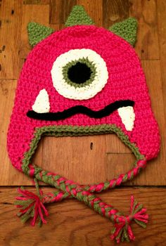 Little Monster Crochet Hat by StormyDayCrochet on Etsy, $20.00