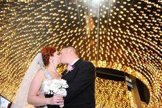 Under the lights of Vegas! | Las Vegas weddings at Chapel of the Flowers
