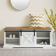 Entryway Shoe Storage, Bench With Shoe Storage, Shoe Storage Cabinet, Cubby Storage, Upholstered Storage Bench, Entryway Decor, Storage Spaces, Front Door Shoe Storage, Bathroom Bench Storage