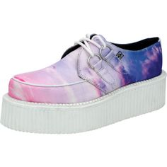 Cloudscape Viva Mondo Creepers ($85) ❤ liked on Polyvore featuring shoes, creepers, platforms, t u k shoes, platform shoes, creeper shoes, creeper platform shoes and t.u.k.